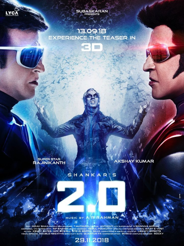 Rajinikanth-Akshay-Kumar-Upcoming-Movie-2.0-New-Poster