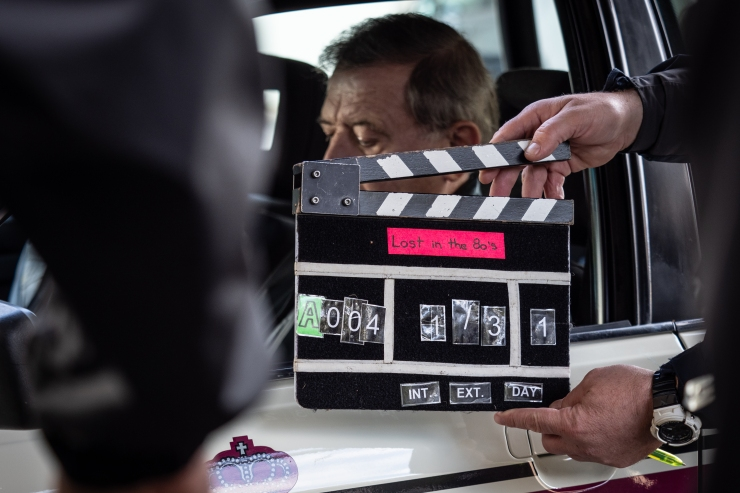 """1738_tournage_Lost_in_the_80_s_Andy_Bausch_21_09_2018 - tournage """"Lost in the 80's"""" by Andy Bausch - Luxembourg - Ville -  - 21/09/2018 - photo: claude piscitelli"""